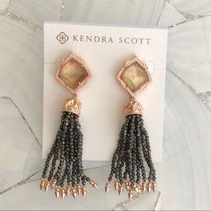 Kendra Scott NWOT brown MOP Misha earrings